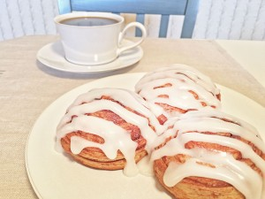 Immaculate Cinnamon Roll with Coffee