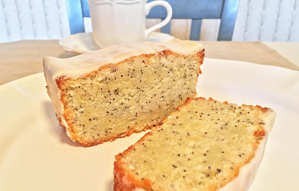 Lemon-Poppy-Seed Pound Cake with Lemon Glaze