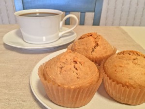 Peanut Butter Cookie Muffins with Coffee