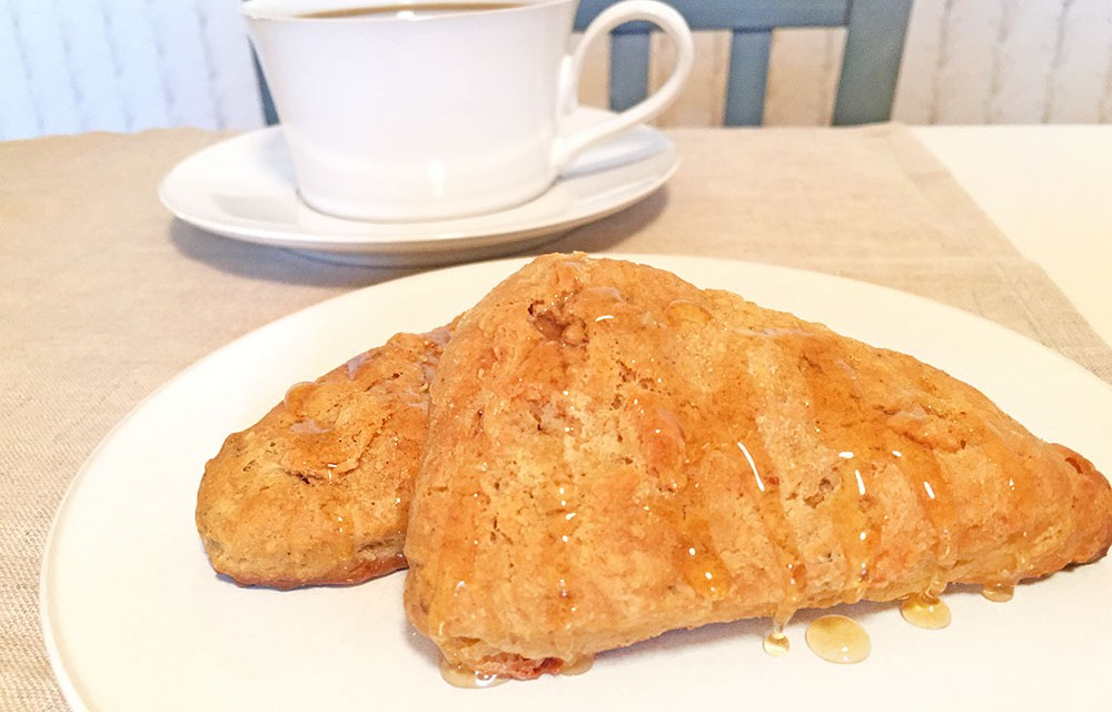 Pumpkin Scones with berry butter