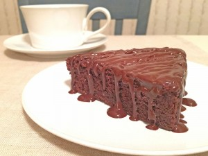 Raspberry Fudge Cake Slice