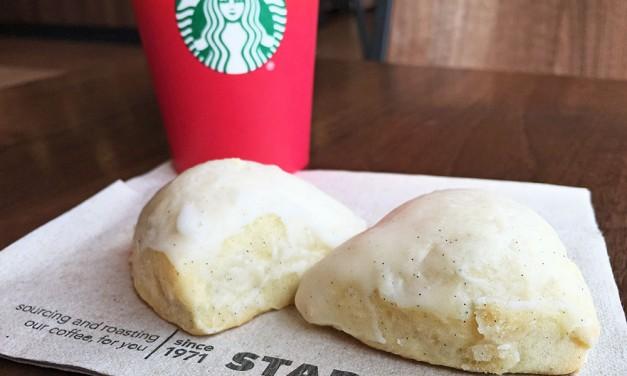 Starbucks Petite Vanilla Bean Scone and Coffee