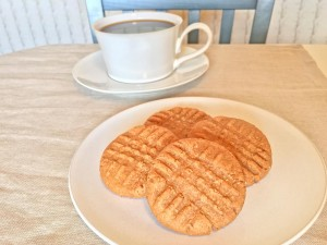 3 Ingredient Peanut Butter Cookies and Coffee