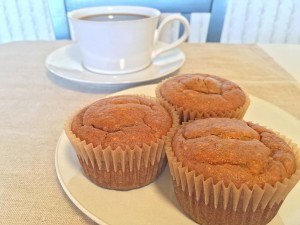 Flourless Almond Butter Pumpkin Muffin and Coffee