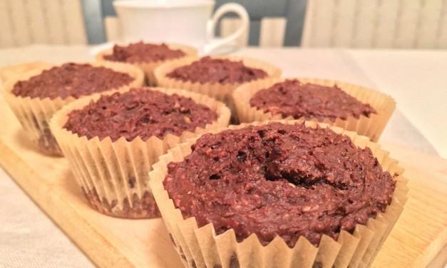 Chocolate Banana Blender Muffins