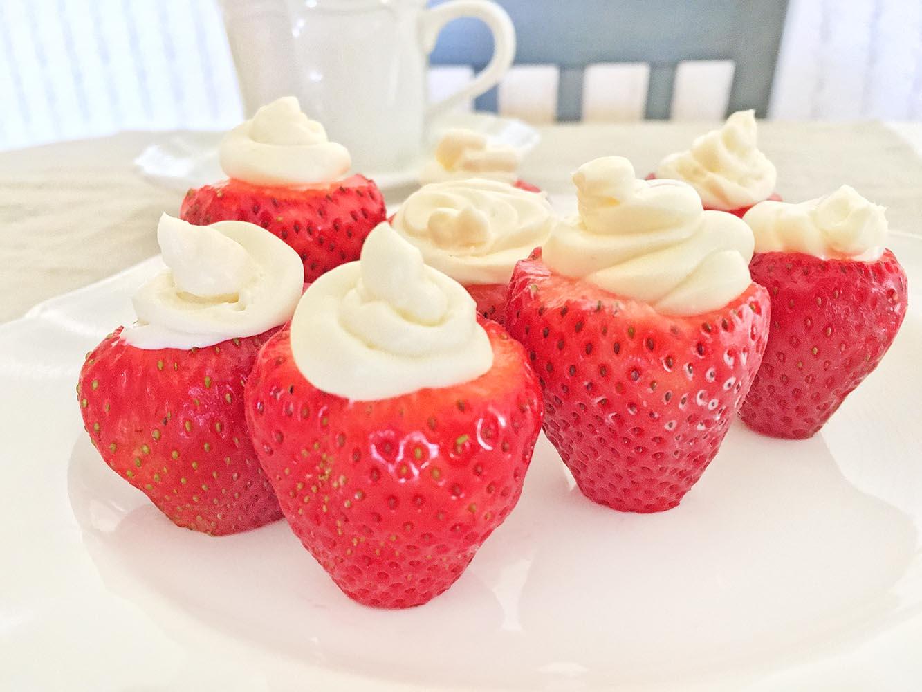 No Bake Strawberry Cheesecake Bites