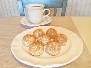 Strawberry Shortcake Stuffed Golden Oreo Truffles and Coffee