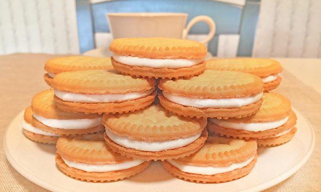 Gluten Free Vanilla Creme Cookie Tower