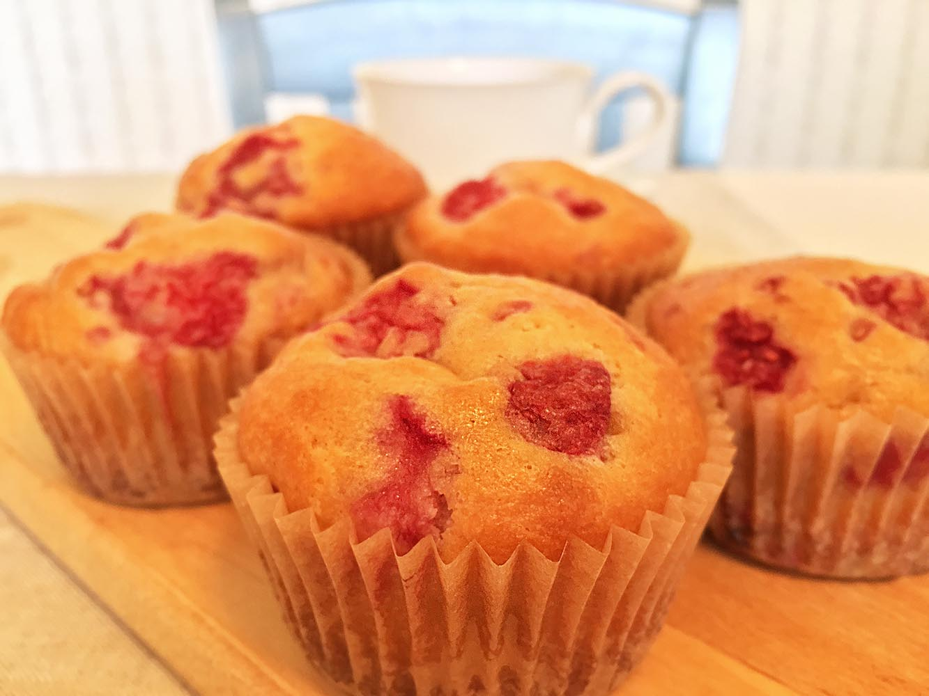 Raspberry Yogurt Muffins