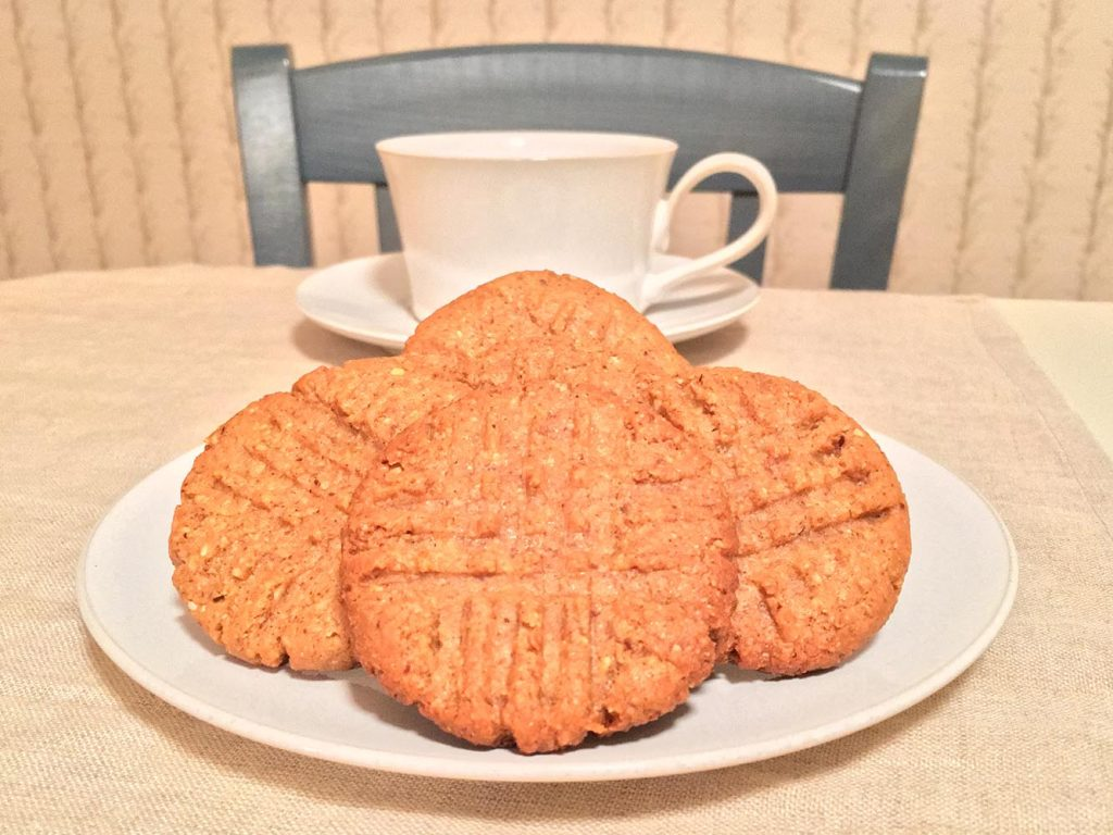 3 Ingredient Almond Butter Cookies with Coffee