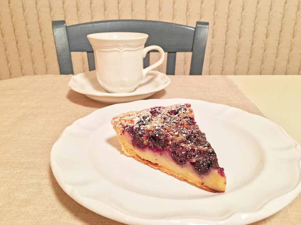 Blueberry Buttermilk Pie with Coffee