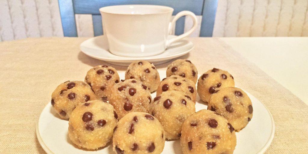 Vegan Cookie Dough Bites and Coffee