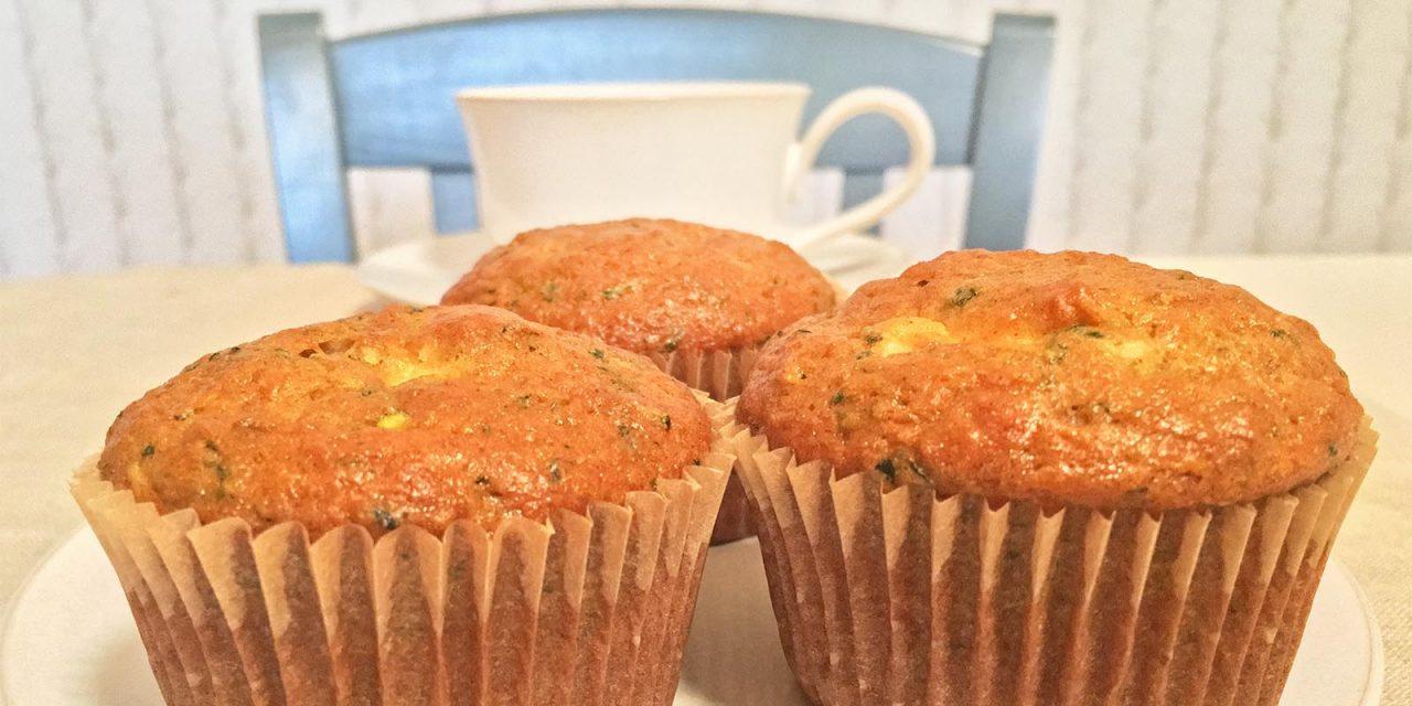 Zucchini Buttermilk Cream Cheese Muffins