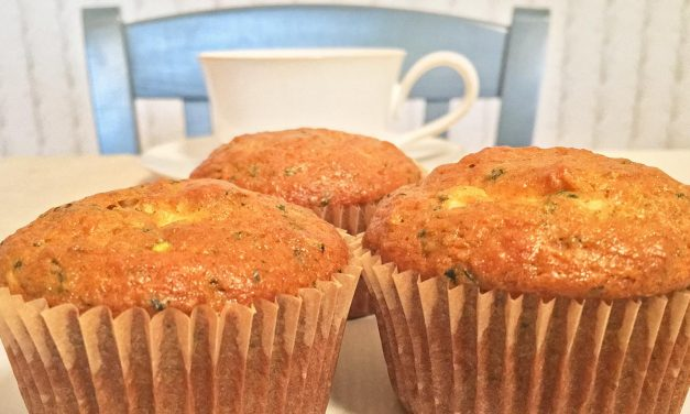 Zucchini Buttermilk Cream Cheese Muffins