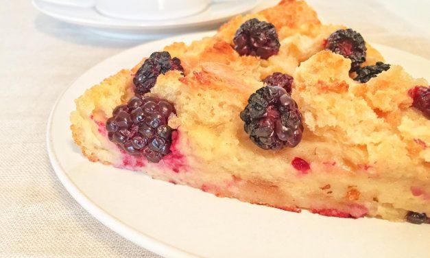 Blackberry Bread Pudding