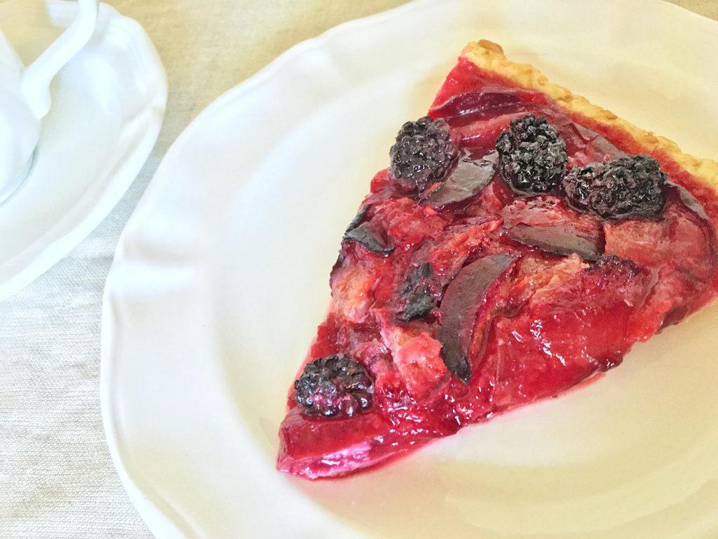 Emma's Plum-tastic Raspberry-Plum Tart