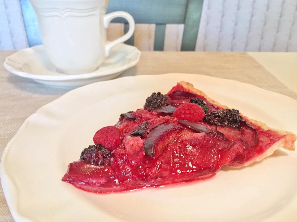 Emma's Plumtastic Raspberry-Plum Tart
