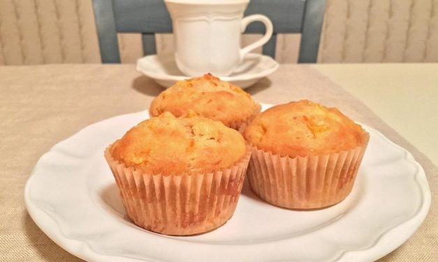 Peach Greek Yogurt Muffins