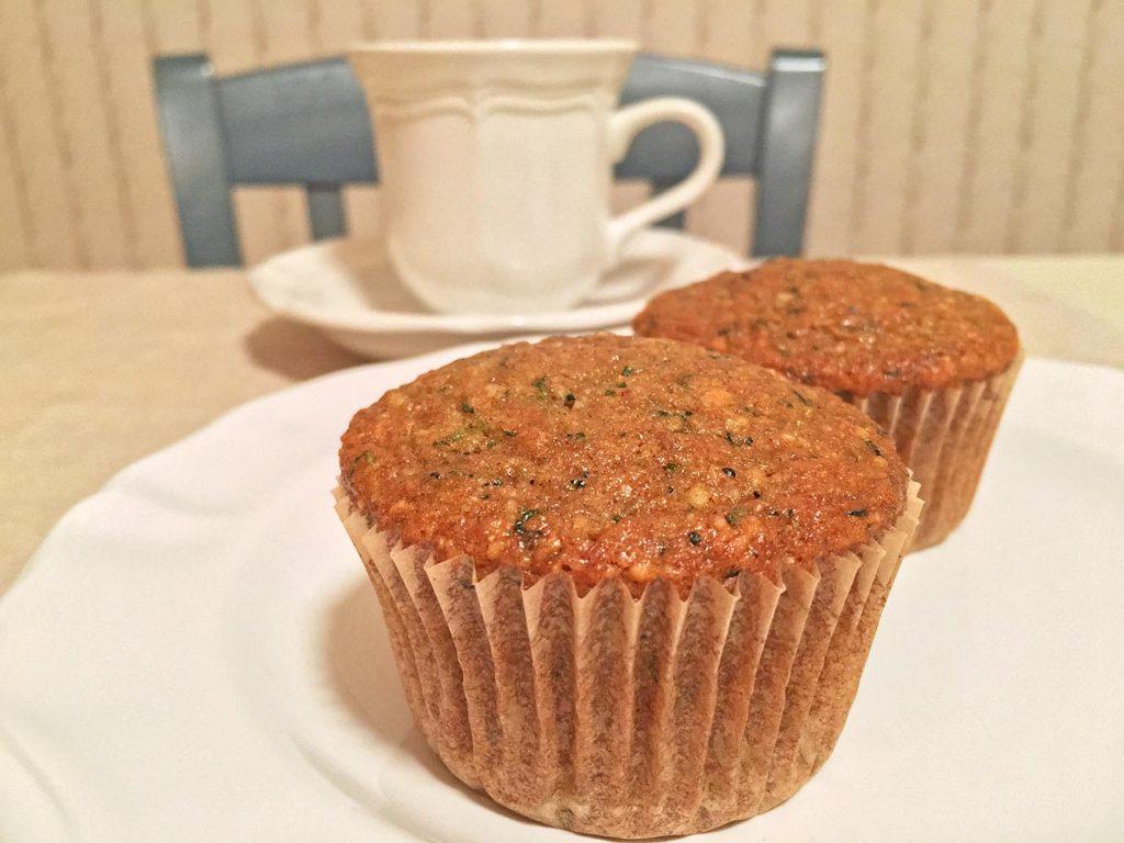 Vegan Zucchini Muffins with Coffee